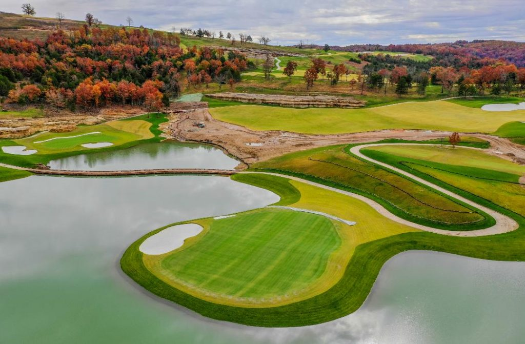 Since Tiger Woods launched his course design business in 2006, his name draws just as much interest when he's designing 18 holes as when he's playing 18.  Woods's latest creation in the Ozark Mountains of Ridgedale, Missouri.  The course is set to open in late 2019, becoming the fifth golf course at Big Cedar Lodge, and will host the Bass Pro Shops Legends of Golf event in coming years.