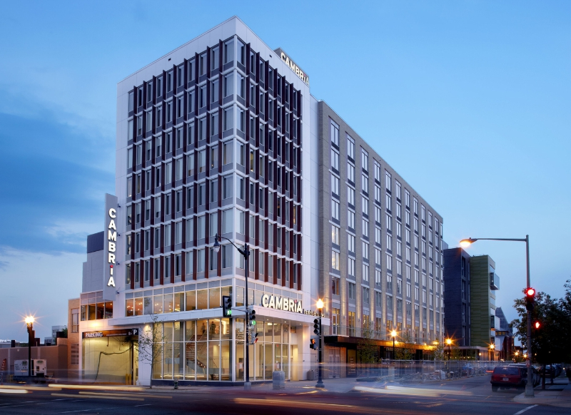 Upscale business traveler brand Cambria Hotels & Suites continues to surge.