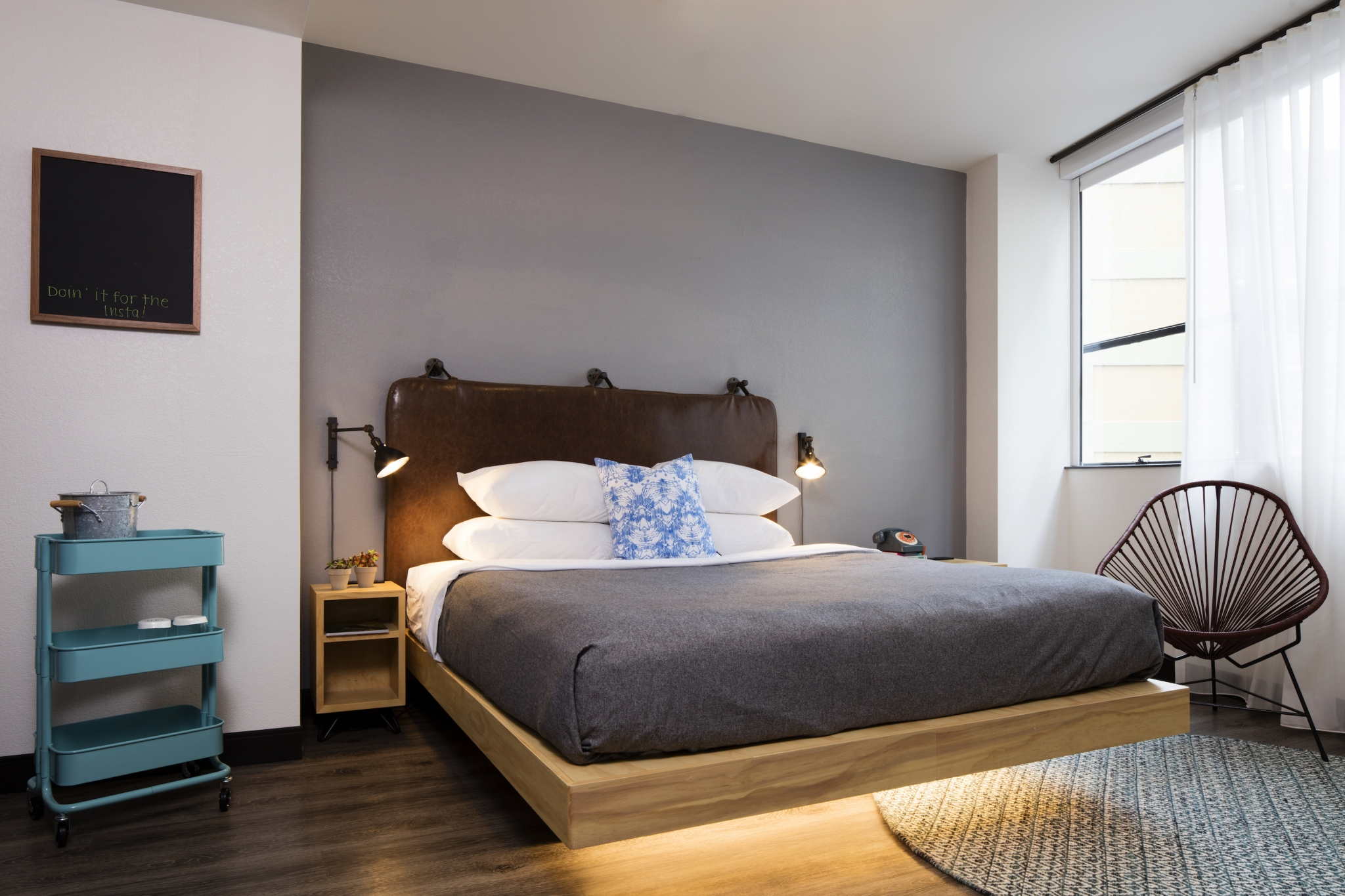 Franchise hotel rooms are becoming smaller and more efficient.  Buy a franchise hotel.
