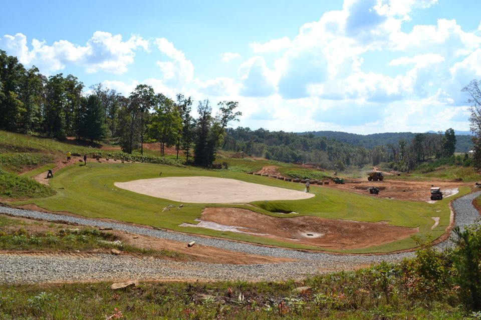 "Ancient Cherokee called the area ""The Enchanted Land,"" and the course has over 280 feet of elevation change as it winds through 125 acres of ridges and meadows. When complete, the par-70 course will measure 6,850 yards and offer spectacular views of the Chattahoochee and Cherokee Nation Forests."