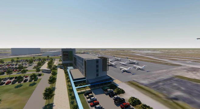 Florida's Orlando Melbourne International Airport (MLB) envisions a unique Fly-In upscale hotel that features direct airfield access, water views, rooftop dining and more. An RFP was issued with a submission deadline of March 15, 2019.
