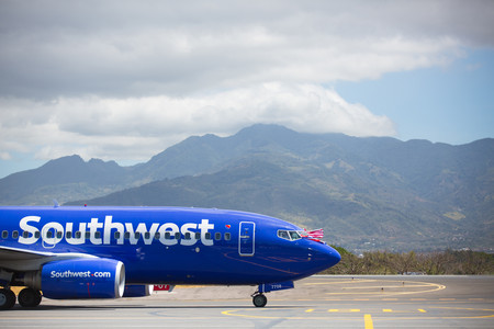 Southwest Airlines land in San Jose Costa Rica